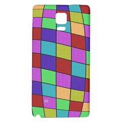 Colorful Cubes  Galaxy Note 4 Back Case by Valentinaart