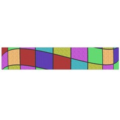 Colorful Cubes  Flano Scarf (large) by Valentinaart