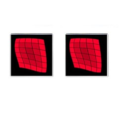 Red Abstraction Cufflinks (square) by Valentinaart