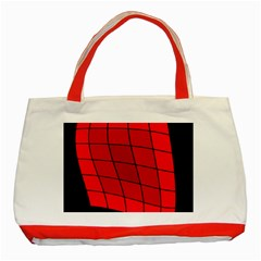 Red Abstraction Classic Tote Bag (red) by Valentinaart