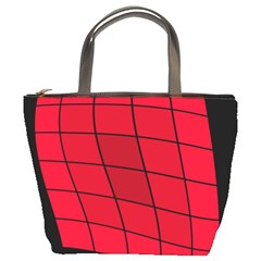 Red Abstraction Bucket Bags