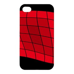 Red Abstraction Apple Iphone 4/4s Premium Hardshell Case by Valentinaart