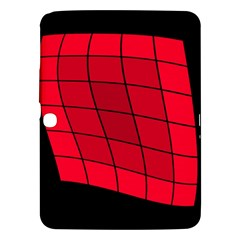 Red Abstraction Samsung Galaxy Tab 3 (10 1 ) P5200 Hardshell Case  by Valentinaart