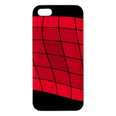Red Abstraction Iphone 5s/ Se Premium Hardshell Case by Valentinaart
