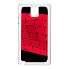 Red Abstraction Samsung Galaxy Note 3 N9005 Case (white) by Valentinaart