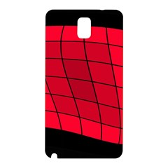 Red Abstraction Samsung Galaxy Note 3 N9005 Hardshell Back Case by Valentinaart