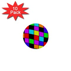 Colorful Cubes  1  Mini Buttons (10 Pack)  by Valentinaart