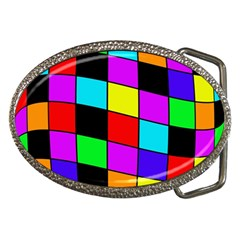 Colorful Cubes  Belt Buckles by Valentinaart