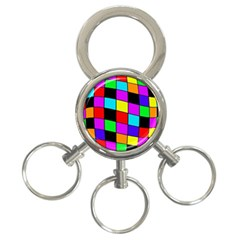 Colorful Cubes  3 Ring Key Chains by Valentinaart