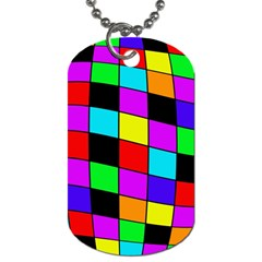 Colorful Cubes  Dog Tag (two Sides) by Valentinaart