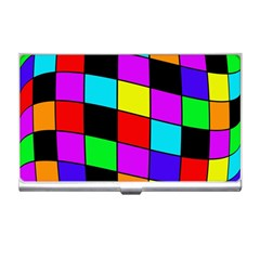 Colorful Cubes  Business Card Holders by Valentinaart