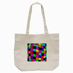 Colorful Cubes  Tote Bag (cream) by Valentinaart