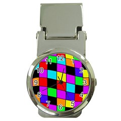 Colorful Cubes  Money Clip Watches by Valentinaart