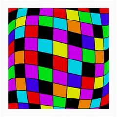 Colorful Cubes  Medium Glasses Cloth by Valentinaart