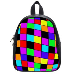 Colorful Cubes  School Bags (small)  by Valentinaart