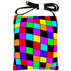 Colorful Cubes  Shoulder Sling Bags by Valentinaart