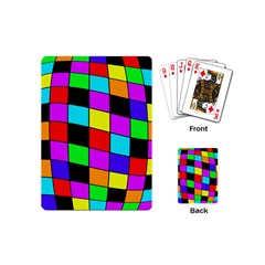 Colorful Cubes  Playing Cards (mini)  by Valentinaart