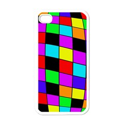 Colorful Cubes  Apple Iphone 4 Case (white) by Valentinaart