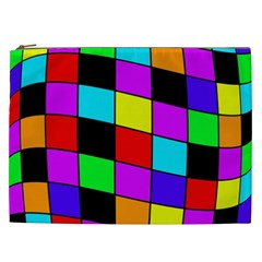 Colorful Cubes  Cosmetic Bag (xxl)  by Valentinaart