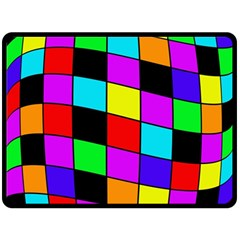 Colorful Cubes  Double Sided Fleece Blanket (large)  by Valentinaart
