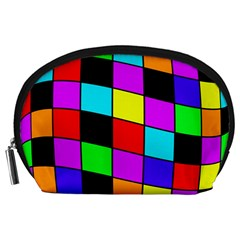 Colorful Cubes  Accessory Pouches (large)  by Valentinaart