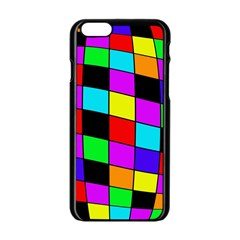 Colorful Cubes  Apple Iphone 6/6s Black Enamel Case by Valentinaart