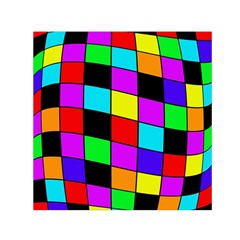 Colorful Cubes  Small Satin Scarf (square) by Valentinaart