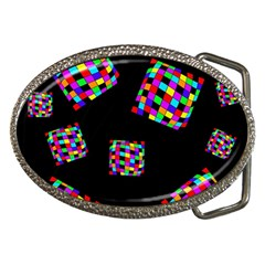 Flying  Colorful Cubes Belt Buckles by Valentinaart