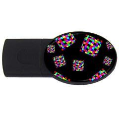 Flying  Colorful Cubes Usb Flash Drive Oval (4 Gb)  by Valentinaart