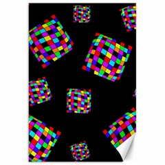 Flying  Colorful Cubes Canvas 20  X 30   by Valentinaart