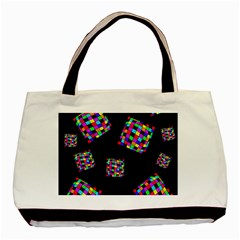 Flying  Colorful Cubes Basic Tote Bag (two Sides) by Valentinaart
