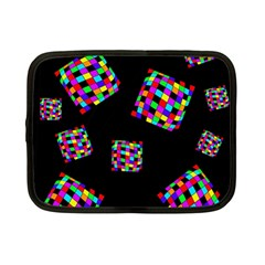 Flying  Colorful Cubes Netbook Case (small)  by Valentinaart