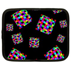 Flying  Colorful Cubes Netbook Case (xxl)  by Valentinaart