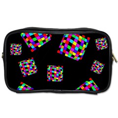 Flying  Colorful Cubes Toiletries Bags 2 Side by Valentinaart