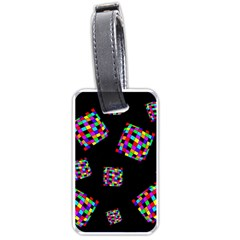 Flying  Colorful Cubes Luggage Tags (one Side)  by Valentinaart