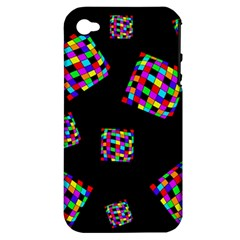 Flying  Colorful Cubes Apple Iphone 4/4s Hardshell Case (pc+silicone) by Valentinaart