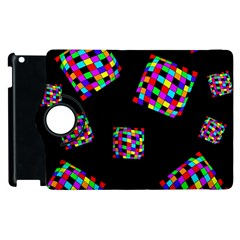 Flying  Colorful Cubes Apple Ipad 2 Flip 360 Case by Valentinaart