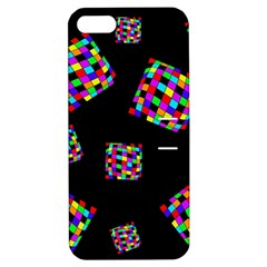 Flying  Colorful Cubes Apple Iphone 5 Hardshell Case With Stand by Valentinaart
