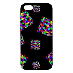 Flying  Colorful Cubes Apple Iphone 5 Premium Hardshell Case by Valentinaart