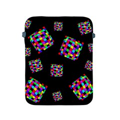 Flying  Colorful Cubes Apple Ipad 2/3/4 Protective Soft Cases by Valentinaart