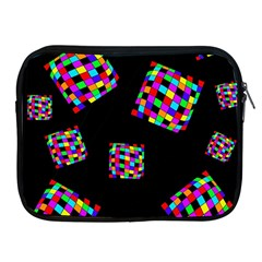 Flying  Colorful Cubes Apple Ipad 2/3/4 Zipper Cases by Valentinaart