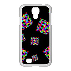 Flying  Colorful Cubes Samsung Galaxy S4 I9500/ I9505 Case (white) by Valentinaart