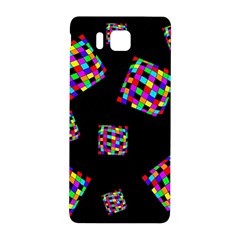 Flying  Colorful Cubes Samsung Galaxy Alpha Hardshell Back Case by Valentinaart