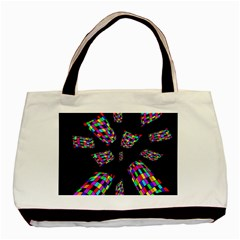 Colorful Abstraction Basic Tote Bag by Valentinaart