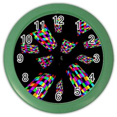 Colorful Abstraction Color Wall Clocks