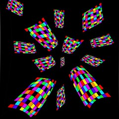Colorful Abstraction Magic Photo Cubes by Valentinaart