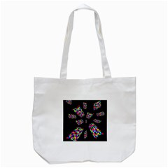 Colorful Abstraction Tote Bag (white) by Valentinaart