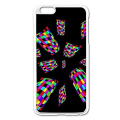 Colorful Abstraction Apple Iphone 6 Plus/6s Plus Enamel White Case by Valentinaart