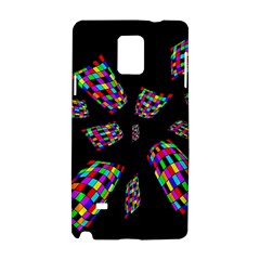 Colorful Abstraction Samsung Galaxy Note 4 Hardshell Case by Valentinaart
