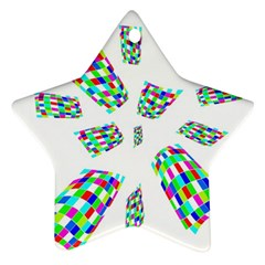 Colorful Abstraction Ornament (star)  by Valentinaart
